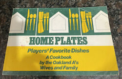 Oakland Athletics Home Plates Cookbook of Players Favorite Dishes by Wives 1980#x27; $9.99