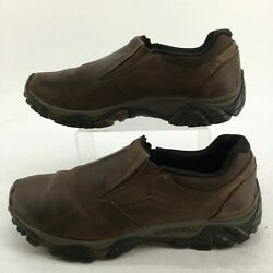 Merrell Mens 13 Moab Adventure Moc Loafers Brown Leather Casual Shoes J91837 $34.99