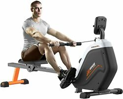 Indoor Folding Magnetic Rowing Machine Snap Fitness Full Body Cardio Workout $299.99
