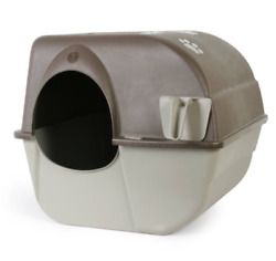 Omega Paw Self Cleaning Automatic Cat Litter Box Large Roll#x27;n Kitty Pewter Scoop $39.99