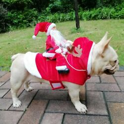 Pet Dog Small Large Christmas Santa Claus Cape Coat Costume Outfits Cosplay $16.99