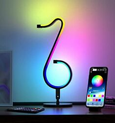 Table Wall Modern Lamp Music Dimmable Smart LED 210 Mode APP Control $63.28