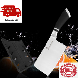 Knife Cleaver Cutlery Kitchen Steel Chef Stainless Butcher Meat Forged Knives $24.99