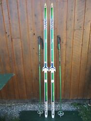 Ready to Use Cross Country 75quot; Long KARHU 195 cm Skis Poles $39.38