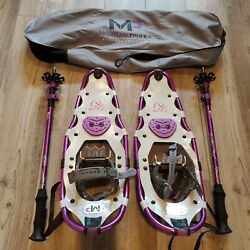 Yukon Charlie#x27;s MP Mountain Profile Snowshoes with Poles amp; Carrying Bag $134.97