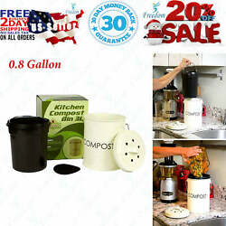 Kitchen Compost Bin 0.8 Gallon Rust Proof and Leak Proof Built Tough to $38.95