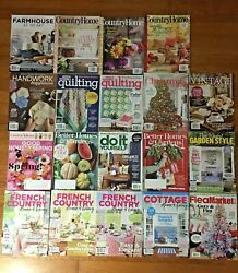 Lot of 19 Farmhouse French Country Home flea Market amp; More Decorating Magazines $36.00