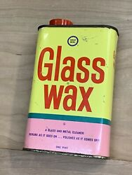VINTAGE GLASS WAX GOLD SEAL EMPTY 1 PINT TIN METAL CAN 3 4 Full $44.99