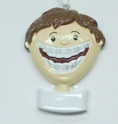 Christmas Ornament Stocking Stuffer Cute Boy with Braces $8.99