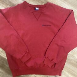CHAMPION SPORTSWEAR VINTAGE 90s RED SMALL SPELLOUT SWEATSHIRT LARGE $40.00