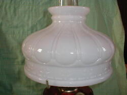 10quot; OPAL GLASS Early Coleman style SHADE old oil kerosene lamp student $79.95