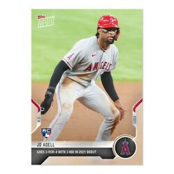 Jo Adell 2021 MLB TOPPS NOW Rookie Card 611 RC Goes 3 For 4 in Debut PRE ORDER $5.20