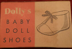 """Vintage Novelty Toddler Baby Doll Shoes Ties amp; Bows for 21"""" Dolls No. 855 Pink $13.95"""