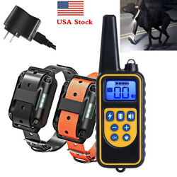 2600FT Dog Training Collar Rechargeable Remote Shock PET Waterproof For 2 Dogs $37.99