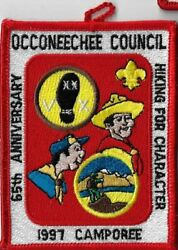 1997 Camporee 65th Ann. Hiking For Character Occoneechee Council RED Bdr. MX 12 $5.95