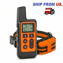 Electric Dog Shock Training Collar Rechargeable Remote Control Shock Vibration $22.68