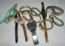 Lot of 12 Watches C4 • TIMEX • RUMOURS • STUDIO TIME • CASIO • quot;AS ISquot; $15.00