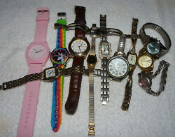 Lot of 12 Watches C9 • CADENCE • PS • KATHY IRELAND • NICOLET • quot;AS ISquot; $15.00