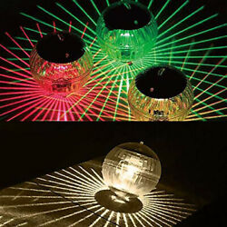 LED Pool Lamp Solar Light Garden Floating Pond Rotating Color Changing Outdoor $9.99