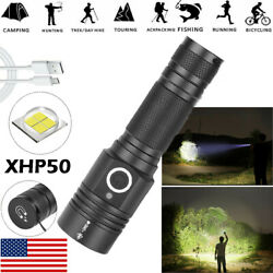 Most powerful 90000LM LED Flashlight On or off click Telescopic focusing BE $18.11