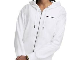 Champion Women#x27;s Campus French Terry Zip Hoodie Sweater Jacket Size Large $19.50