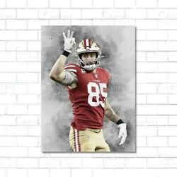 George Kittle poster San Francisco 49ers Paper Kids Wall Decor Football Man $37.99