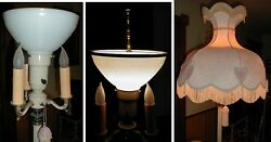10quot; FLOOR TABLE LAMP LAMPSHADE ADAPTER for old antique reflector diffuser shade $20.95