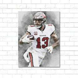 Mike Evans Poster Tampa Bay Buccaneers Paper Kids Wall Decor Football Man C $37.99