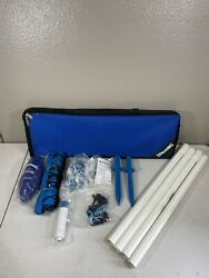 Spalding Volleyball Portable Net Set Beach Volleyball w Carrying Case NEW $29.99