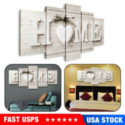 5Pcs Concise Fashion Wall Paintings Home Letter Printed Photo Art Wedding Decor $13.29