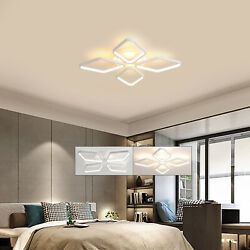Modern 5 4 Heads Ceiling Light LED Fixtures Living Room With Remote Controller