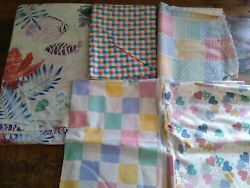 lot PASTEL 100% cotton quilting fabric vintage material heart baby Cranston 8yd $46.98