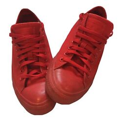 Converse All Star Mens Size 9.5 Womens Size 11 Red Lace Up Shoes $33.99
