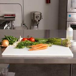 Commercial White Plastic Cutting Board NSF X Large 24 x 18 x 0.5 Inch BPA Free