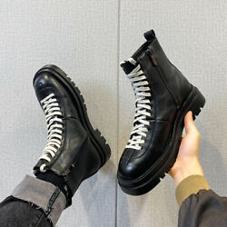 Mens High Top Motorcycle Boots Shoes Pumps Outdoor Walking Sports Non slip 38 44 $63.30