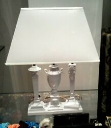 NEW VERSACE WHITE MEDUSA THREE STAND TABLE LAMP SHADE ** Extremely RARE ** AG $5999.85