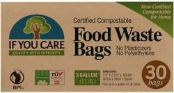 If You Care Compostable Trash Bags for Food Scraps Kitchen Waste Garbage – 30 $9.87