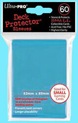 60 Ultra Pro DECK PROTECTOR Small Size LIGHT BLUE Card Sleeves NEW gaming yugioh $6.89