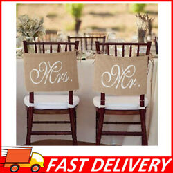 Mr. amp; Mrs. Burlap Chair Banner Sign Garland for Rustic Wedding Party Decoration $11.61