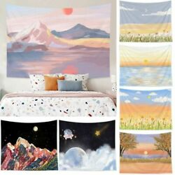 Nordic Ins Tapestry Background Wall Scenery Printed Hanging Painting Dorm Decors $8.22