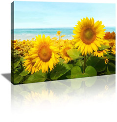 Flower Wall Art for Living Room Canvas Painting for Bathroom Bedroom Decor Home $20.86
