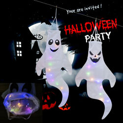Halloween Hanging Ghost Decoration Outdoor Decor 2 Pieces 43 Inch White