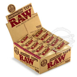 Raw Rolling Paper Wide Perforated Filter Tips 1 Pack $1.00