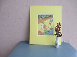vintage illustration of fairy and mouse by Sari 1940 $12.50