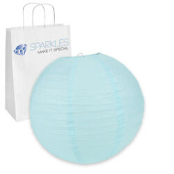 5 pcs 16quot; inch Chinese Paper Lantern Light Blue Wedding Party Event py $10.49