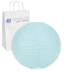 10 pcs 6quot; inch Chinese Paper Lantern Light Blue Wedding Party Event ma $10.49