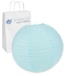 100 pcs 16quot; inch Chinese Paper Lantern Light Blue Wedding Party Event dr $117.99