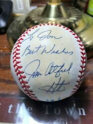 Jim quot;Catfishquot; Hunter Autographed AL Baseball from the Early 90#x27;s Nicely Priced $49.95