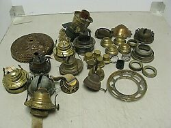 ASSORTED LOT OF OIL LAMP PARTS PLS. CHECK PICTURES $24.99