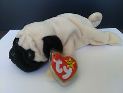PUGSLY the Dog 4th 3rd Gen No Star 1996 PVC TY Retired Beanie Baby VTG New MINT $11.99